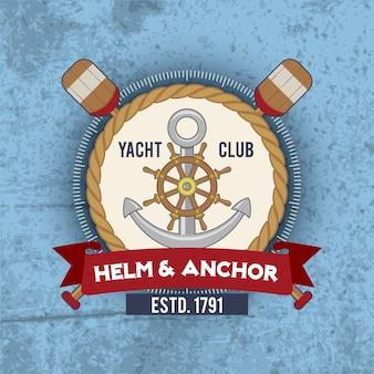 Vintage emblemat żeglarski