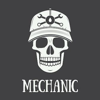 Vintage etykieta mechanika, godło i logo