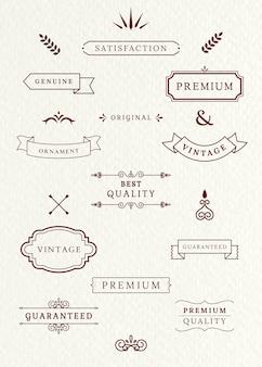Vintage etykiety i banery