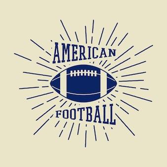 Vintage etykiety rugby i futbolu amerykańskiego, emblematy i logo. ilustracja wektorowa