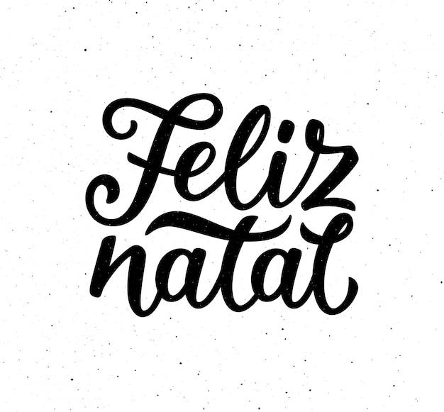 Vintage feliz natal plakat typograficzne wektor