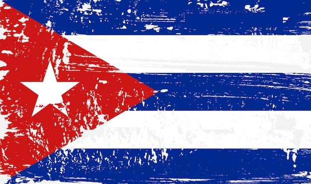 Vintage flaga kuby