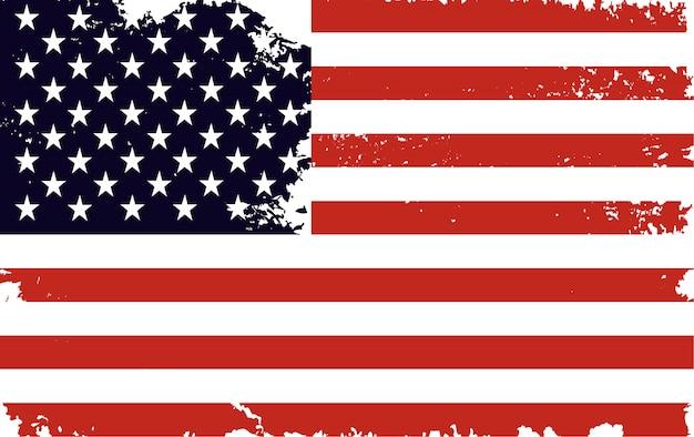 Vintage flaga stanów zjednoczonych