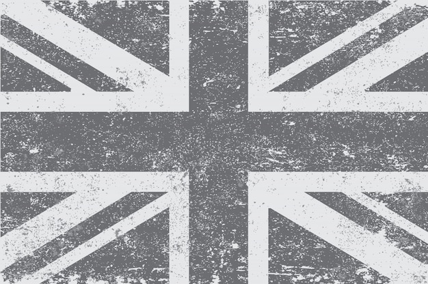 Vintage flaga wielkiej brytanii