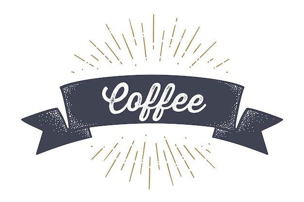 Vintage flaga z godłem kawy