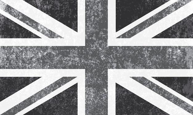 Vintage flaga zjednoczonego królestwa
