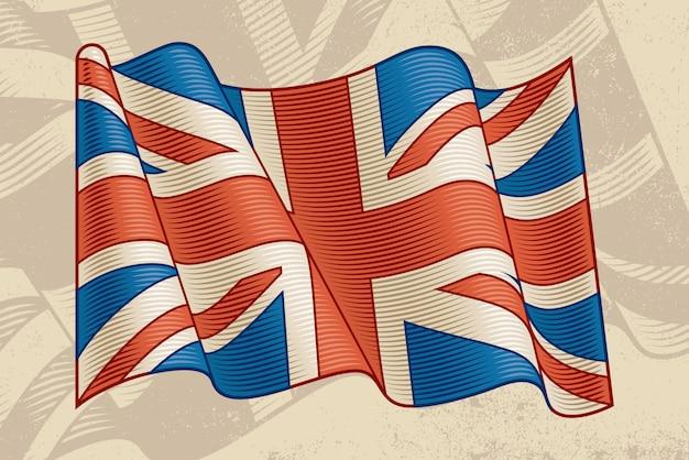 Vintage flagi brytyjskiej