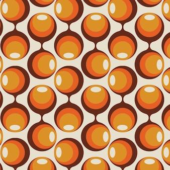 Vintage geometryczny wzór groovy