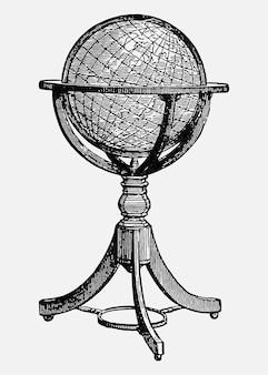 Vintage globusy stoją ilustracji