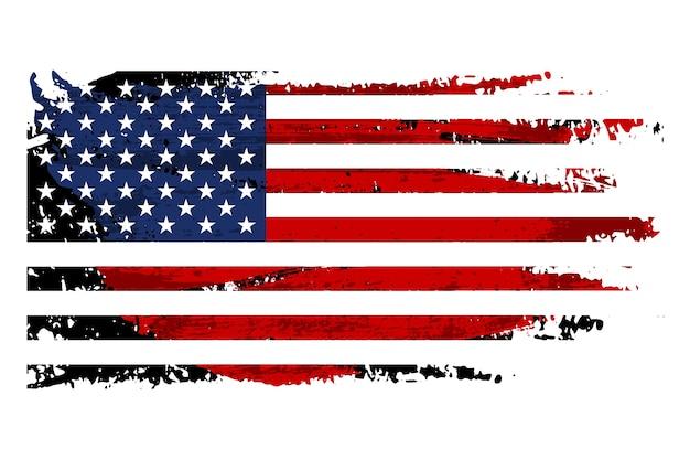 Vintage grunge flaga usa
