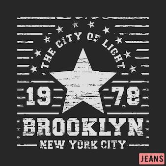 Vintage gwiazda z brooklynu