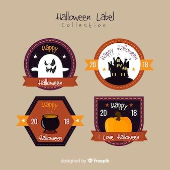 Vintage halloween etykiety kolekcji