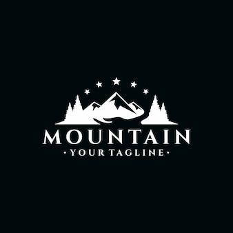 Vintage ilustracja projekt mountain logo