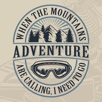Vintage ilustracji góry na jasnym tle. doskonale zorganizowane warstwy.