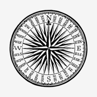 Vintage ilustracji kompas