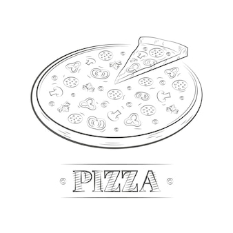 Vintage ilustracji pizzy