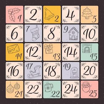 Vintage kalendarz adwentowy