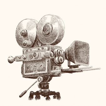 Vintage kamera filmowa.