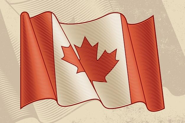 Vintage kanadyjska flaga