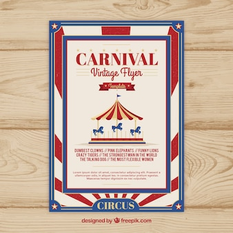 Vintage karnawał party ulotka / plakat