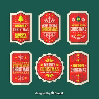 Vintage kartki świąteczne etykiety