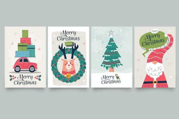 Vintage kartki świąteczne