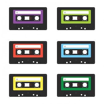 Vintage kaseta z taśmą.