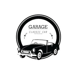 Vintage klasyczne logo samochodu