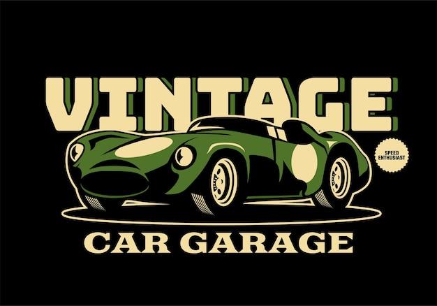 Vintage klasyczny samochód ilustracja