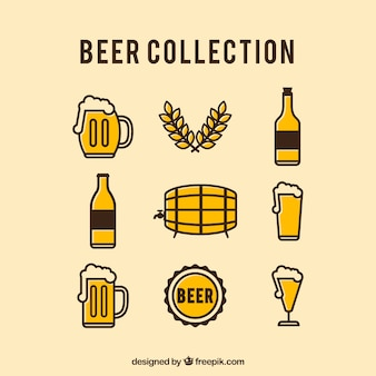 Vintage kolekcja piw