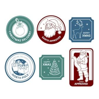 Vintage kolekcja znaczków świątecznych