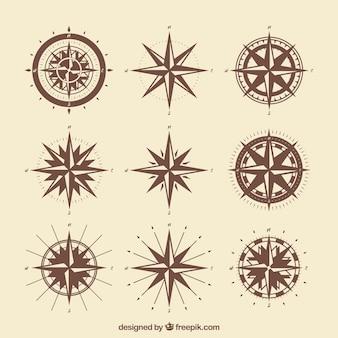 Vintage kompas opakowanie
