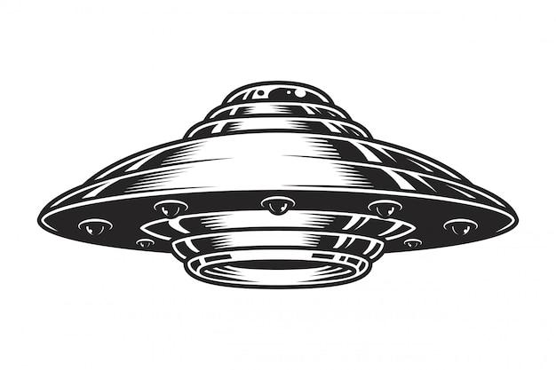 Vintage koncepcja statku kosmicznego ufo