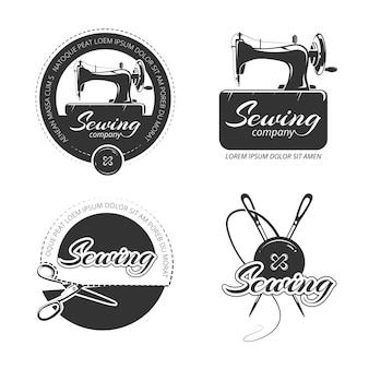 Vintage krawieckie etykiety, emblematy i zestaw logo.