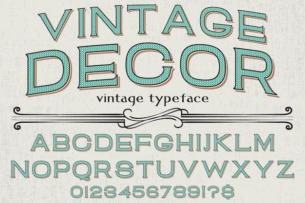 Vintage krój czcionki projekt etykiety projekt