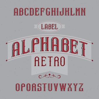 Vintage krój o nazwie retro alphabet. dobra czcionka do użycia w wszelkich starych etykietach lub logo.