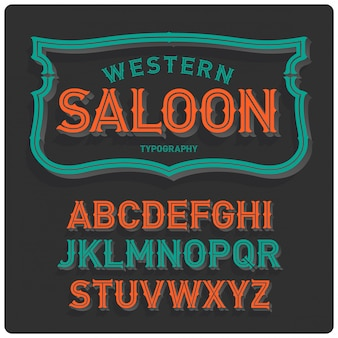 Vintage krój pisma w stylu zachodnim