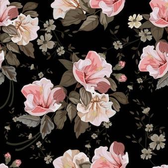 Vintage kwiatki bez szwu