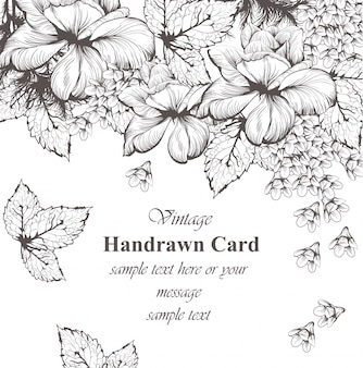 Vintage kwiatowy karty