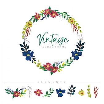 Vintage kwiatowy ramki