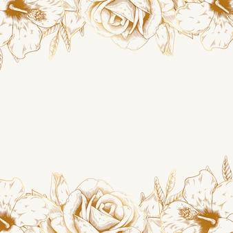Vintage kwiatowy tło
