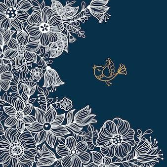 Vintage kwiatowy wzór. ilustracji wektorowych.