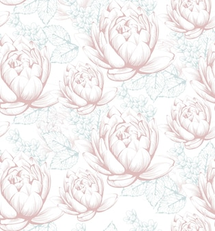 Vintage kwiatowy wzór tła