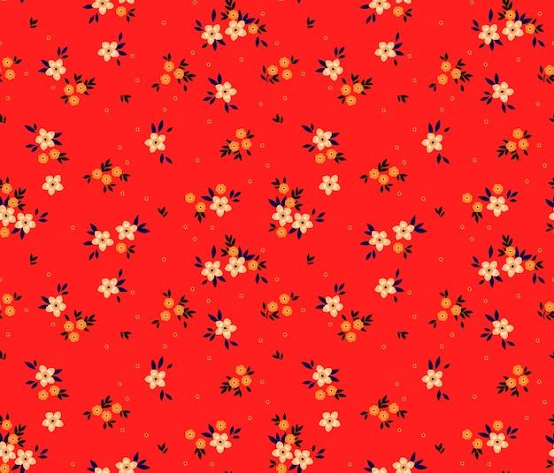 Vintage kwiatowy wzór z małych kwiatów