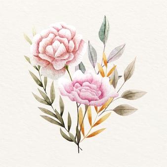 Vintage kwitnący bukiet kwiatów