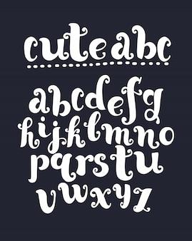 Vintage litery z rozmachem. vintage czcionki w stylu barokowym. vintage alfabet łaciński. białe kontury wielkimi literami na czarnym tle z teksturą.