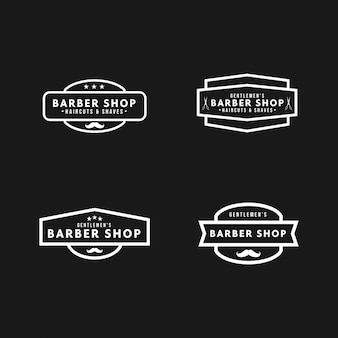Vintage logo barbershop