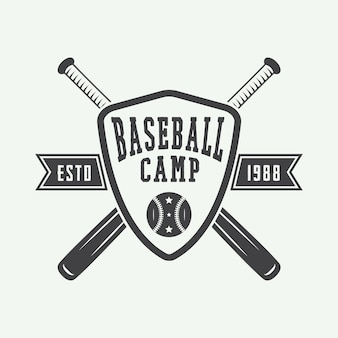 Vintage logo baseballu