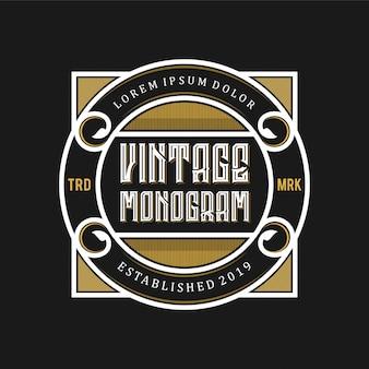 Vintage logo dla restauracji i napojów