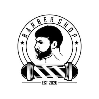 Vintage logo dla zakładów fryzjerskich